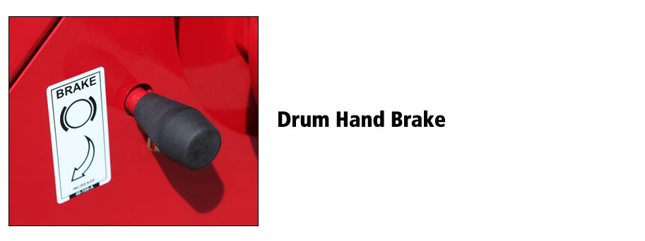 Hose Caddy Drum and Hand Brake